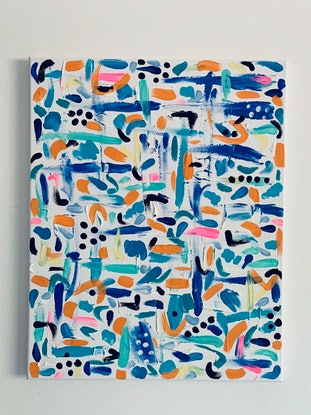 (CreativeWork) Underwater Reef Abstract by Rhianna Fox. Acrylic Paint. Shop online at Bluethumb.
