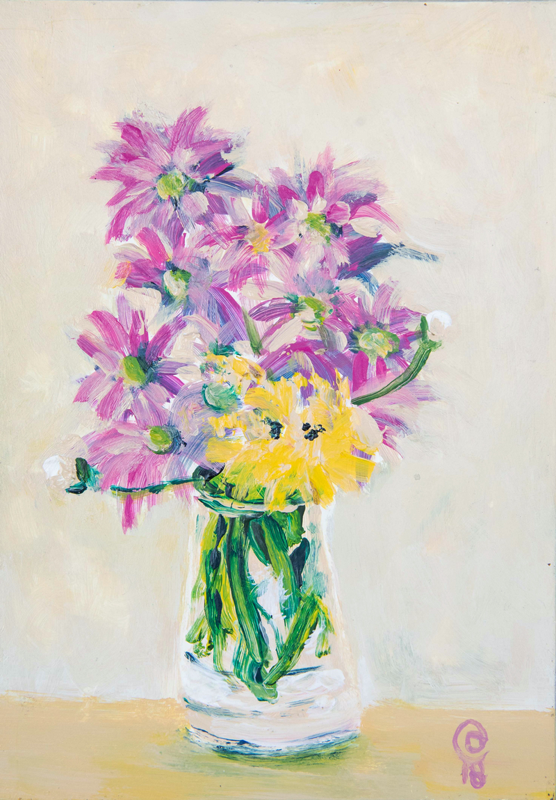 (CreativeWork) Daisies by Dylan Cooper. Acrylic Paint. Shop online at Bluethumb.