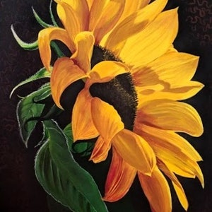 (CreativeWork) Flower of the sun by Yvonne Wells. arcylic-painting. Shop online at Bluethumb.