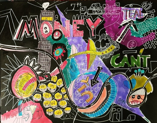 (CreativeWork) MONEY CAN'T by Talia King. Mixed Media. Shop online at Bluethumb.