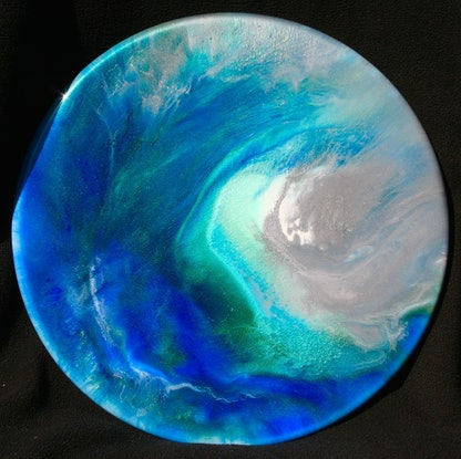 (CreativeWork) edge of a wave by barbara western. Resin. Shop online at Bluethumb.
