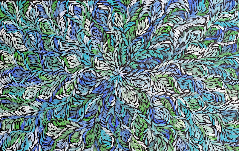 (CreativeWork) Bush Medicine Leaves Dreaming by Louise Numina. arcylic-painting. Shop online at Bluethumb.