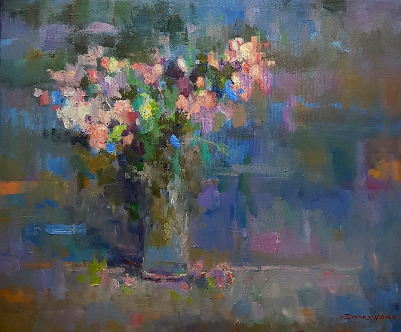 (CreativeWork) Floral Embrace. by Barry Back. Oil Paint. Shop online at Bluethumb.