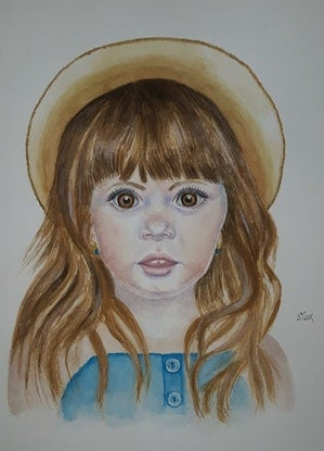 (CreativeWork) Little angel by Svetlana Cook. Watercolour Paint. Shop online at Bluethumb.