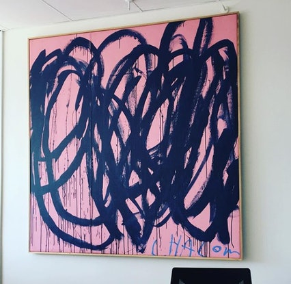 (CreativeWork) Speaking In Tongues 5 by Chalom (Mike Lane). Acrylic Paint. Shop online at Bluethumb.