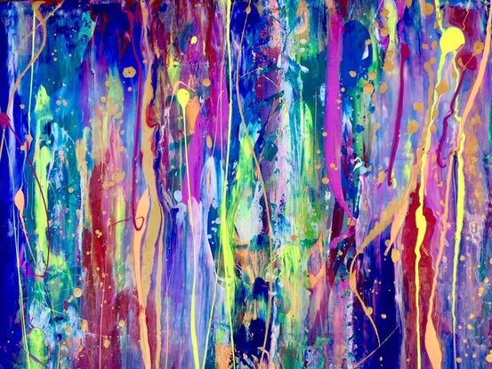 (CreativeWork) Underwater Realm by Terina Jones. Acrylic Paint. Shop online at Bluethumb.