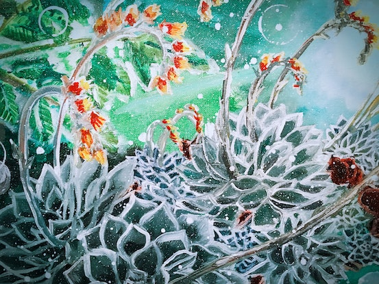 (CreativeWork) BLOOMING ECHEVERIA - LIMITED EDITION GICLEE PRINT   Ed. 2 of 50 by HSIN LIN. Print. Shop online at Bluethumb.
