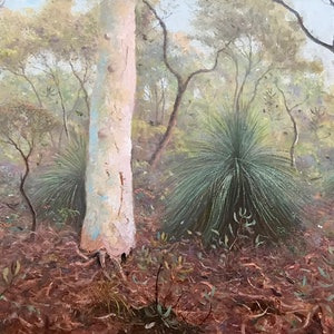 (CreativeWork) Noosa National Park No1. by Howard Sparks. oil-painting. Shop online at Bluethumb.