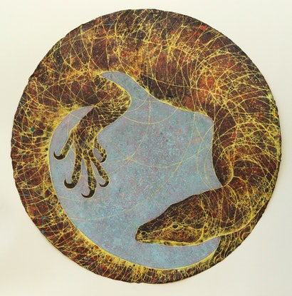 (CreativeWork) Goanna by Elsa Santos Carrillo. Mixed Media. Shop online at Bluethumb.