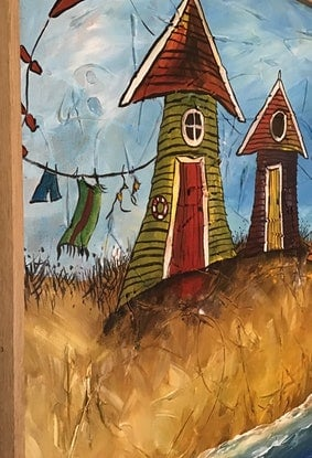 (CreativeWork) Kite Days by Kerri Humby. Acrylic Paint. Shop online at Bluethumb.