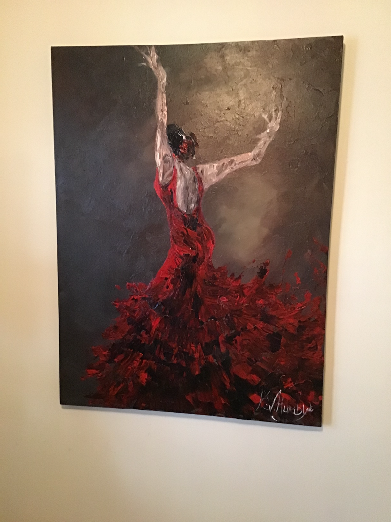 (CreativeWork) Dance by Kerri Humby. Acrylic Paint. Shop online at Bluethumb.