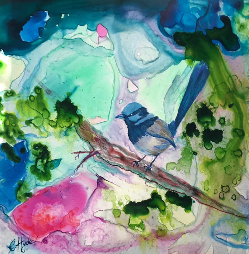 (CreativeWork) So Summer  by Christine Hyde. Mixed Media. Shop online at Bluethumb.