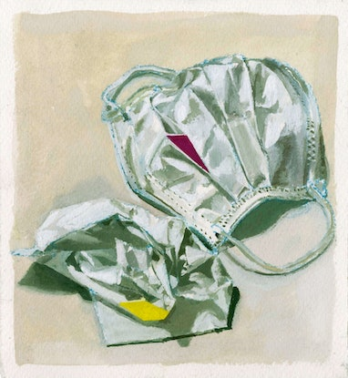 (CreativeWork) Still life with mask and tissue by Megan Tan. Other Media. Shop online at Bluethumb.