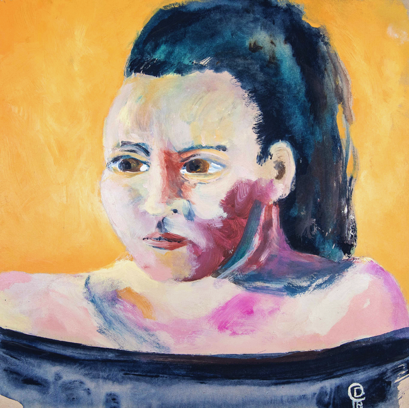 (CreativeWork) Elle by Dylan Cooper. Acrylic Paint. Shop online at Bluethumb.