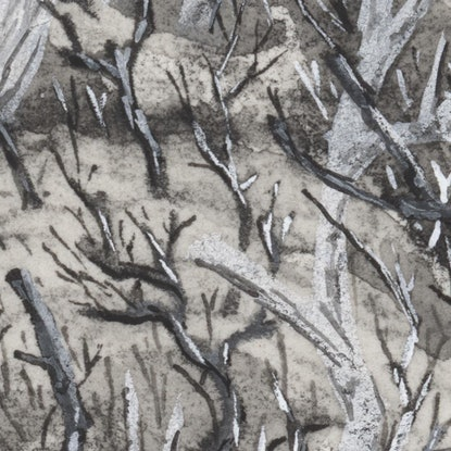 (CreativeWork) Ghost Canopy by Lewis Smart. Watercolour Paint. Shop online at Bluethumb.