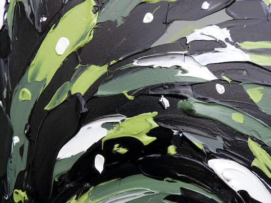 (CreativeWork) Black Cockatoo Forest by Lisa Fahey. Acrylic Paint. Shop online at Bluethumb.
