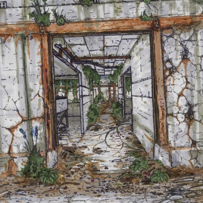 (CreativeWork) Corridor by Lewis Smart. Drawings. Shop online at Bluethumb.