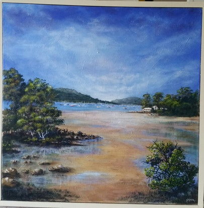 (CreativeWork) Pittwater,  NSW by Greer Roberts. Acrylic Paint. Shop online at Bluethumb.