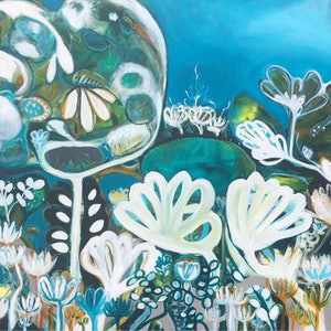 (CreativeWork) Paradise by Sarah Morrow. arcylic-painting. Shop online at Bluethumb.