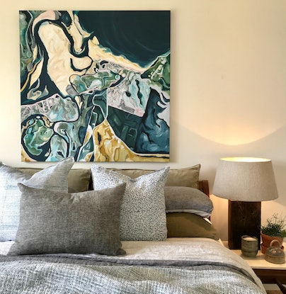 "(CreativeWork) ""Noosa 1976"" by Emma Nancarrow. Acrylic Paint. Shop online at Bluethumb."