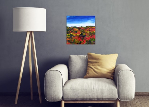 (CreativeWork) The Land - FRAMED - Australian Outback Landscape by Angela Hawkey. Acrylic Paint. Shop online at Bluethumb.