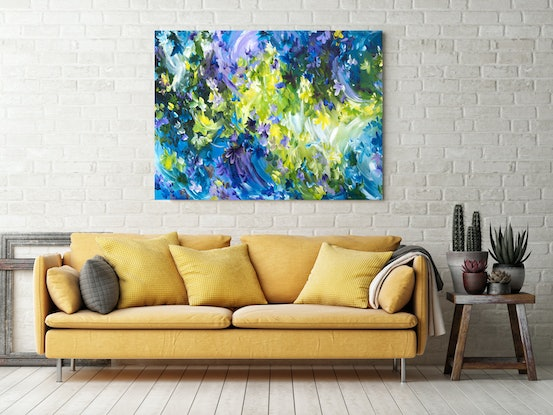 (CreativeWork) Sweet Memories by Amber Gittins. Acrylic Paint. Shop online at Bluethumb.