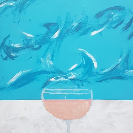 (CreativeWork) Bondi Drinks : Bulldog Margarita by Stella Vu. Acrylic Paint. Shop online at Bluethumb.