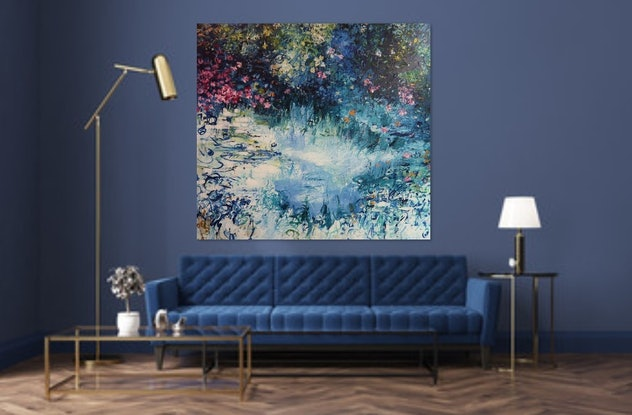 "(CreativeWork) Abstract /Impressionism "" Colors Are The Smiles Of Nature"" by Maria Cross. Acrylic Paint. Shop online at Bluethumb."