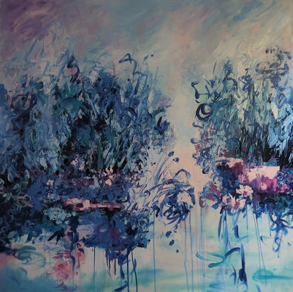 """(CreativeWork) Abstract/Impressionism - """" Tranquility"""" by Maria Cross. Acrylic Paint. Shop online at Bluethumb."""