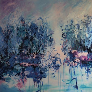 "(CreativeWork) Abstract/Impressionism - "" Tranquility"" by Maria Cross. arcylic-painting. Shop online at Bluethumb."