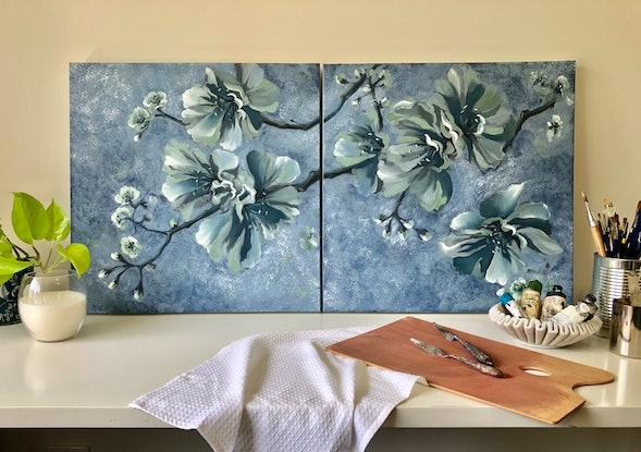 (CreativeWork) FLOURISH by Rosa Fedele. Oil Paint. Shop online at Bluethumb.