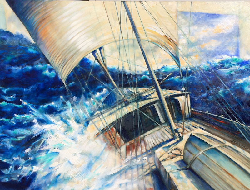 (CreativeWork) Homeward bound by sue bannister. Oil Paint. Shop online at Bluethumb.