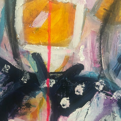 (CreativeWork) Clementine by Kate Toohey. Mixed Media. Shop online at Bluethumb.