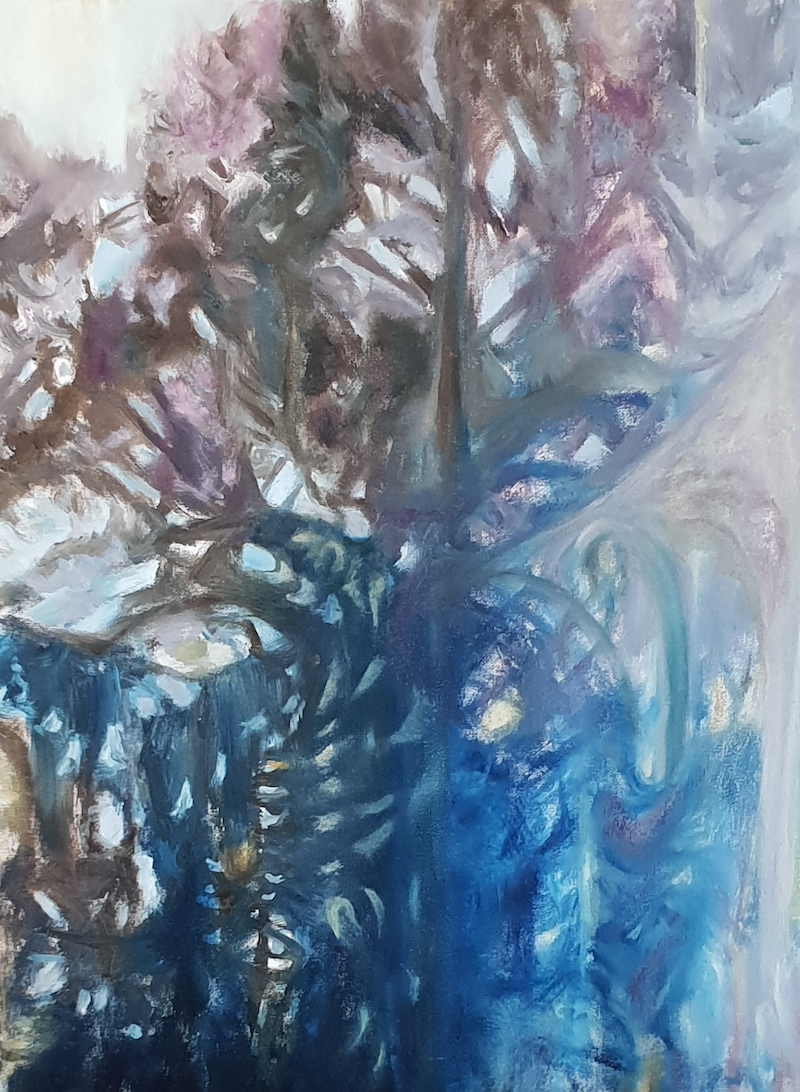 (CreativeWork) Through a glass, darkly by Vanessa Whittington. Oil Paint. Shop online at Bluethumb.