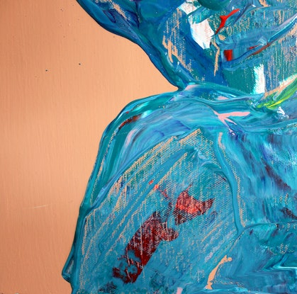 (CreativeWork) Dying to feel fine by Xenia Williams. Acrylic Paint. Shop online at Bluethumb.