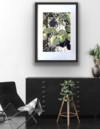 (CreativeWork) Botanical MIni Story - Flowering Purple Buds by Tania Daymond. Drawings. Shop online at Bluethumb.