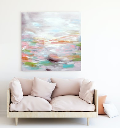 (CreativeWork) Sunsets at sunset   by Michelle Drougas. Acrylic Paint. Shop online at Bluethumb.