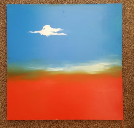 (CreativeWork) Lonely Cloud   by Little Heath. Oil Paint. Shop online at Bluethumb.