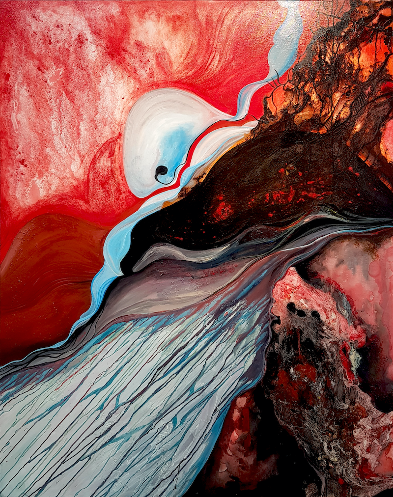 (CreativeWork) Visceral by Xenia Williams. Mixed Media. Shop online at Bluethumb.