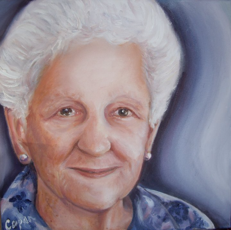 (CreativeWork) Special commission small portrait for client. by Susan Capan. Oil Paint. Shop online at Bluethumb.
