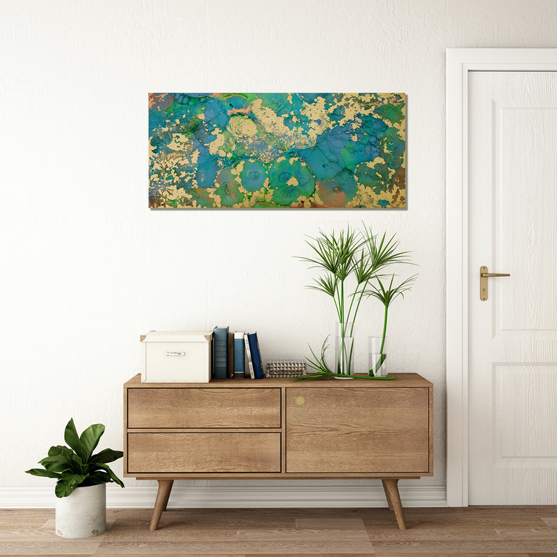 (CreativeWork) ON GOLDEN PONDS by Gabbylou Dignam. Resin. Shop online at Bluethumb.