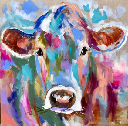 (CreativeWork) Dairy Belle  by Amanda Brooks. #<Filter:0x00007fef2e00bb38>. Shop online at Bluethumb.