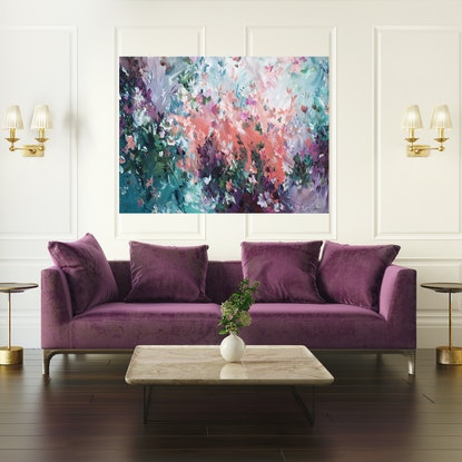 (CreativeWork) Perfect Memories by Amber Gittins. Acrylic Paint. Shop online at Bluethumb.