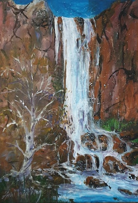 (CreativeWork) FLOWING by Anki Wickison. Acrylic Paint. Shop online at Bluethumb.
