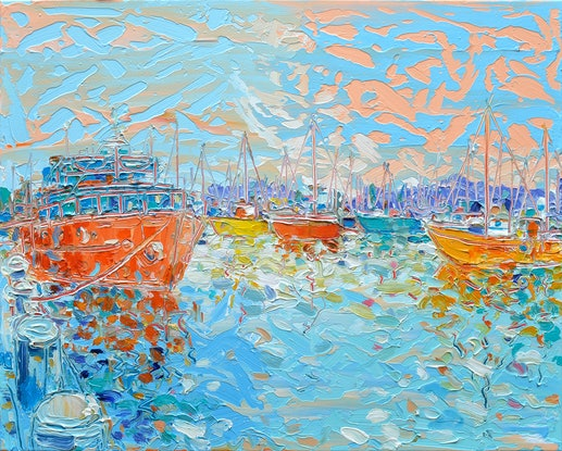 (CreativeWork) Constitution Dock No.2 by Joseph Villanueva. Acrylic Paint. Shop online at Bluethumb.