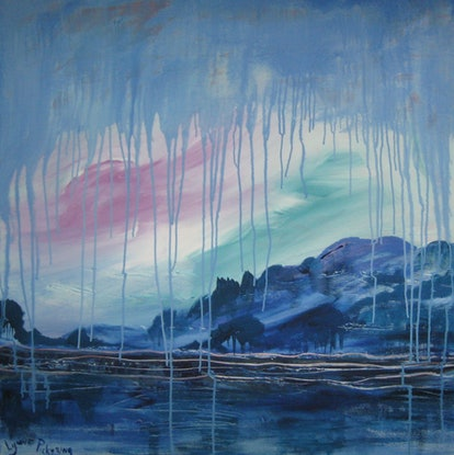 (CreativeWork) Stormy Sky by Lynne ( Dorothy Lynne) Pickering. Acrylic Paint. Shop online at Bluethumb.