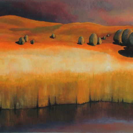 (CreativeWork) Tamar - Nightfall by Adam Fisher. Acrylic Paint. Shop online at Bluethumb.
