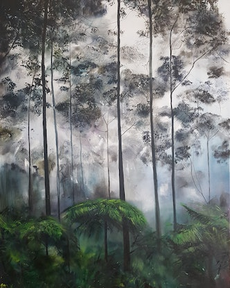 (CreativeWork) Primordial by Fae Ballingall. Oil Paint. Shop online at Bluethumb.