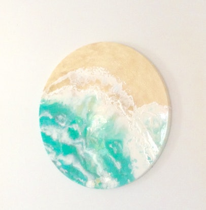 (CreativeWork) THE GENTLE SEA by Caz Brown. Resin. Shop online at Bluethumb.