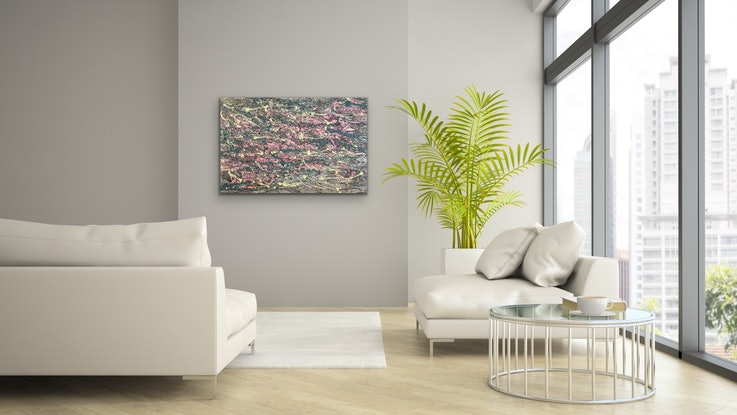 (CreativeWork) Abstract CZ19014 by Carol Zsolt. Acrylic Paint. Shop online at Bluethumb.